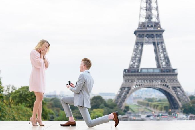 Различни идеи за предложение за годеж с годежен пръстен за бъдеща булка.
