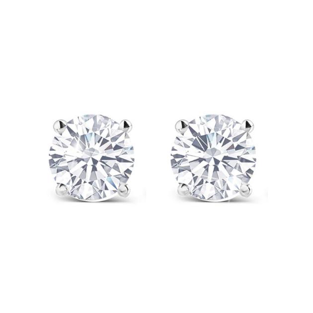 Класически диамантени обеци Classic от злато за прекрасен подарък.