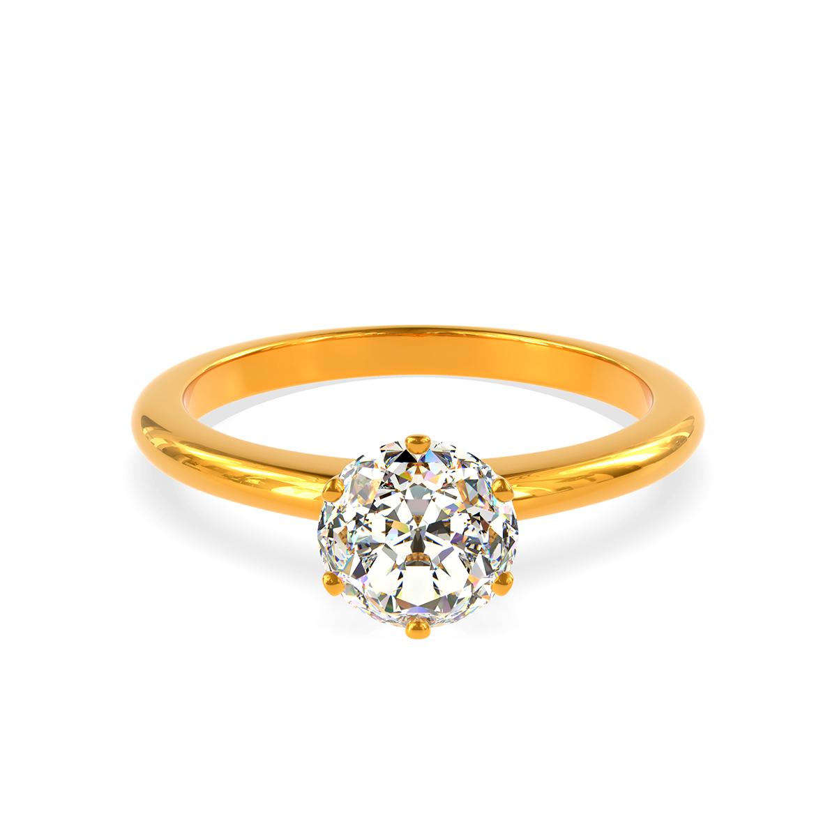 Годежен пръстен от злато с диамант Allure.