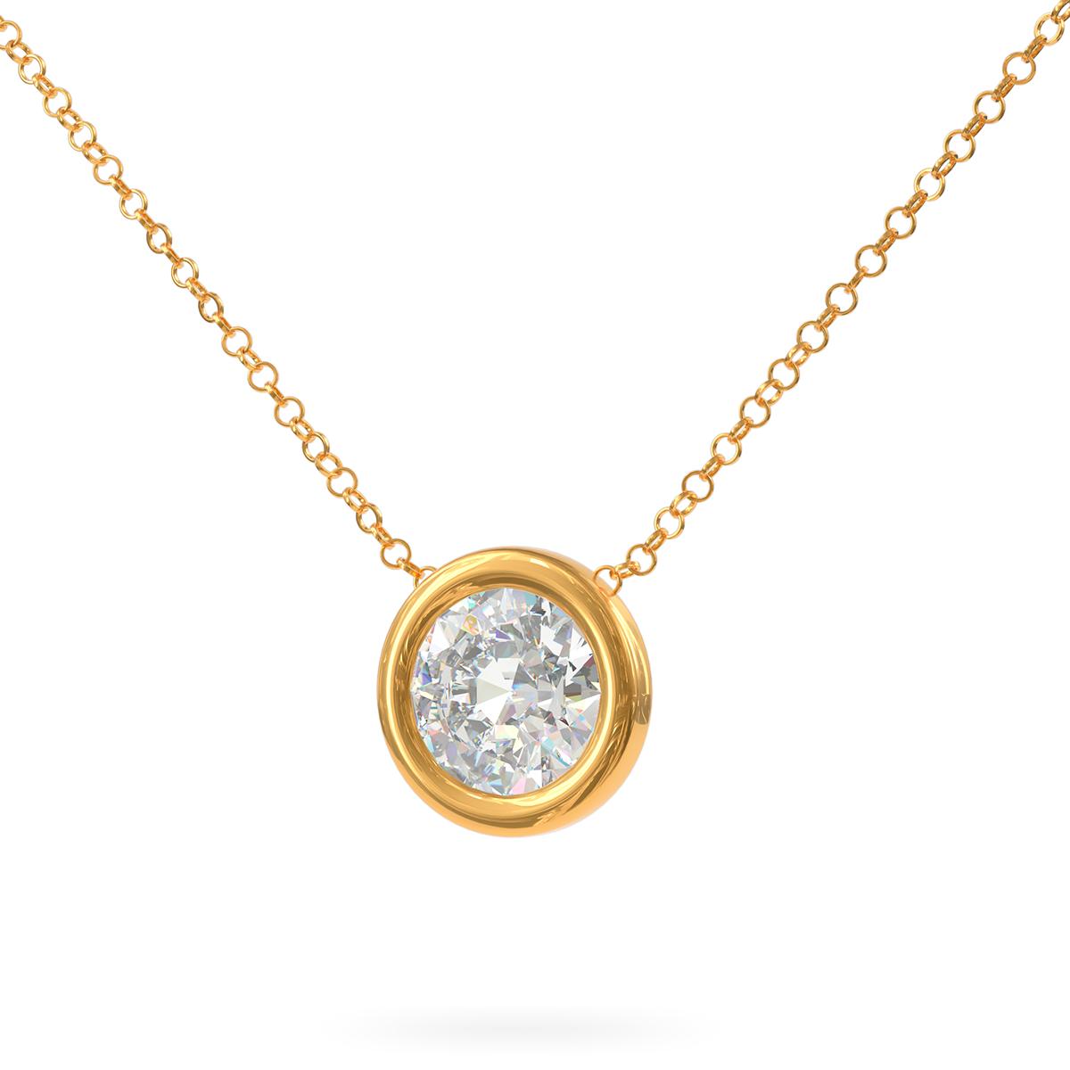 Златно колие Lumina с диамант.