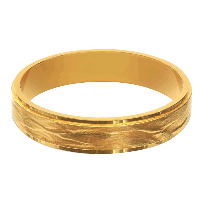 Сватбена халка от жълто злато за него и нея във винтидж стил