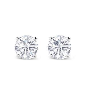 Изящни класически диамантени обеци в злато.