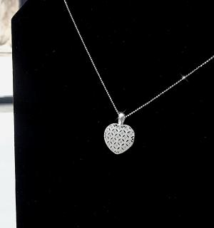 Сребърна висулка Pure heart