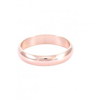 Класическа сватбена халка от розово злато.