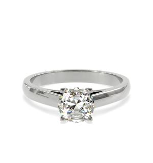 Годежен пръстен Ballerina от бяло злато с диамант.