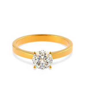 Златен годежен пръстен Heart с диамант.