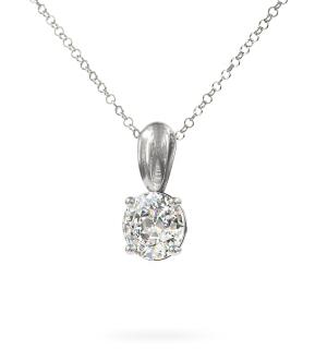 Колие от бяло злато Pour Elle с диамант.