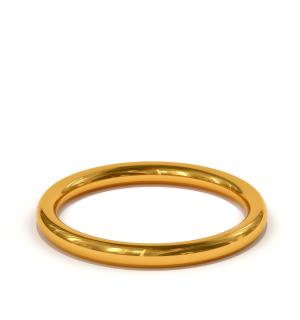 Класически сватбени халки от жълто злато, модел Light