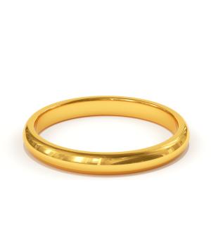 Класическа сватбена халка от жълто злато, модел Victoria