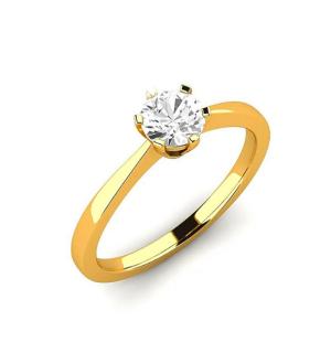 Годежен пръстен Love от розово злато с диамант.