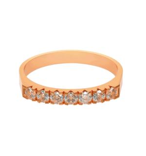 Пръстен Lux от розово злато със 7 диаманта.