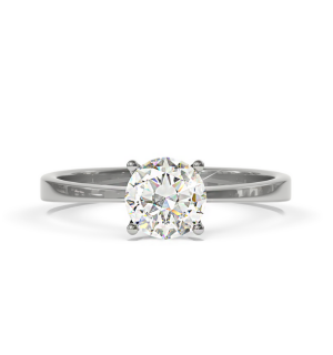 Годежен пръстен с централен диамант-класически модел.