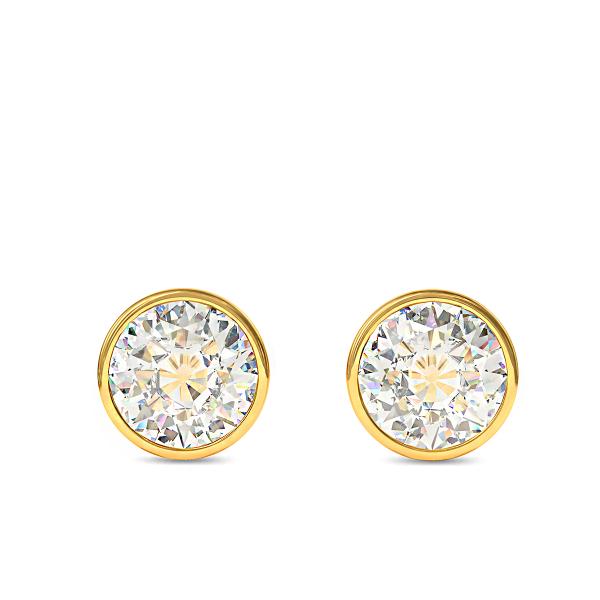 Обеци Lumina от злато с диаманти.
