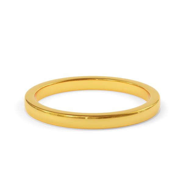 Сватбена халка от жълто злато, модел The World