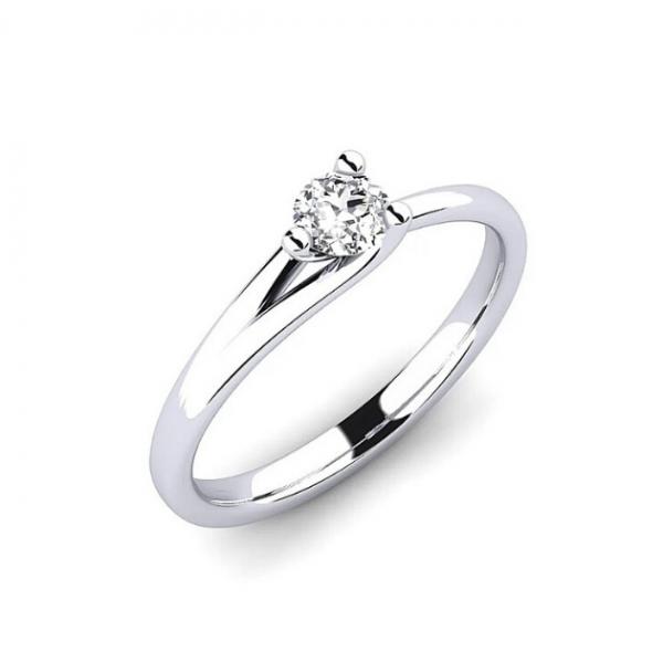 Златен годежен пръстен с диамант, интересен годежен пръстен, различен годежен пръстен