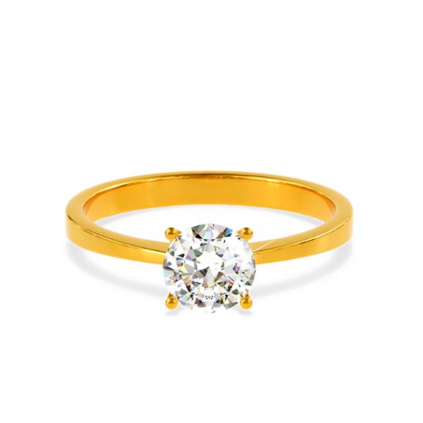 Годежен пръстен Rock Her с един централен диамант.